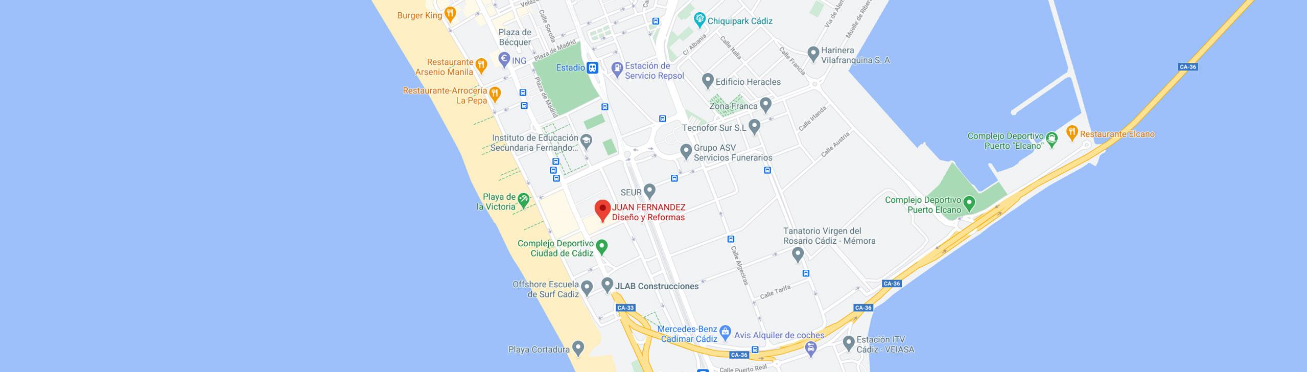Localización Cádiz Juan Fernández